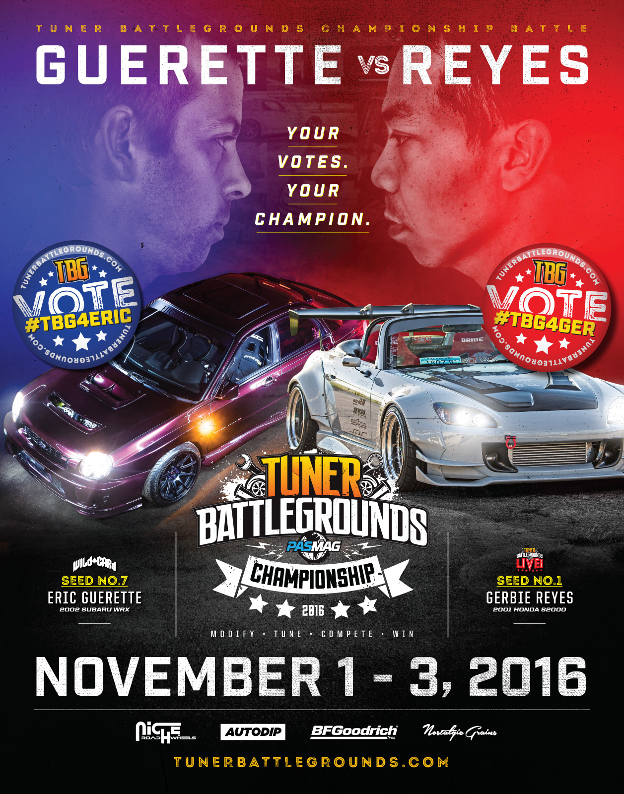 2016 PASMAG Tuner Battlegrounds Championship Poster 22x28 Final