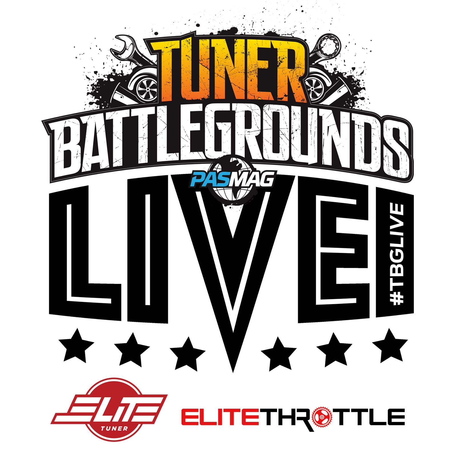Tuner Battlegrounds TBGLIVE Elite Showdown 2017 logo